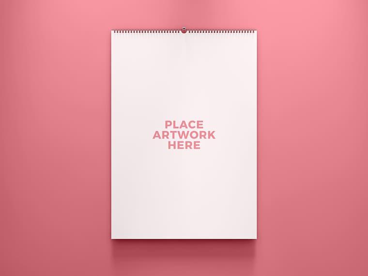 Free 2019 Calendar Mockup PSD template
