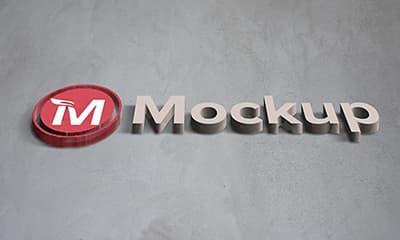 3D Logo Mockup Psd Template Free Download