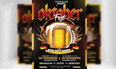 Awesome Oktoberfest Flyer PSD Template Free Download