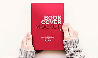 Free PSD Book Cover Mockup Template Design