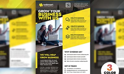 Business Advertising Flyer Design Templates PSD Free Printable