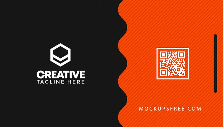Clean Business Card Photoshop Template back