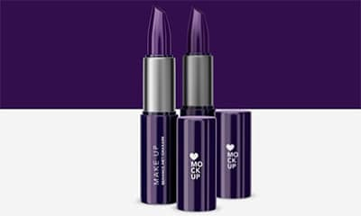 Cosmetics Lipstick  Photoshop Mockup Free Download