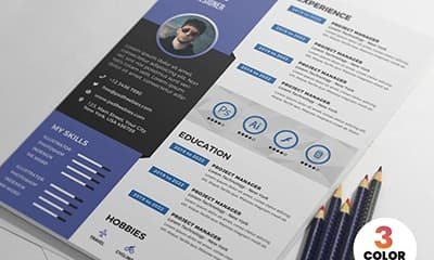 Graphic Designer Resume Template PSD Free Download