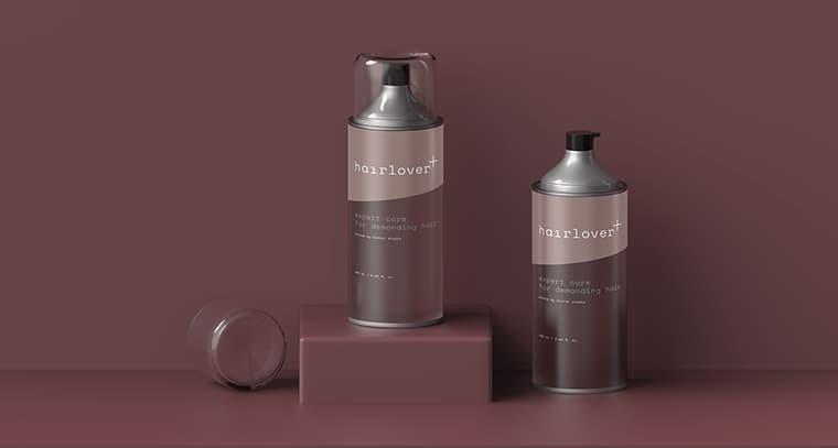 Hair Lover Cosmetic Bottle Mockup
