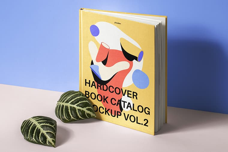 Free Photoshop Hardcover Book Cover Mockup Template