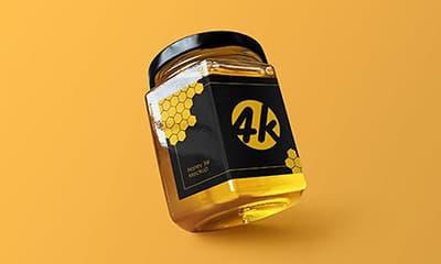 Honey Jar Mockup PSD Free Download