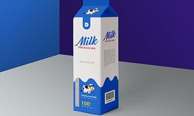 Milk Packaging Box Mockup
