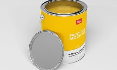 Aluminium Paint Can Packaging Mockup Free Download