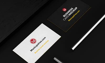 Realistic Business Card Mockup Psd Free Download