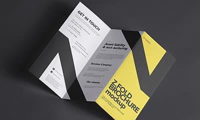 Z-Fold Brochure Mockup Psd Free Download